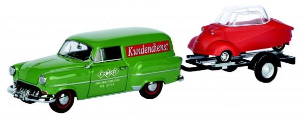 Opel Olympia Caravan + Messerschmitt