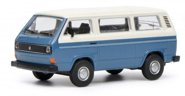 VW T3 Bus, blau-perlweiß