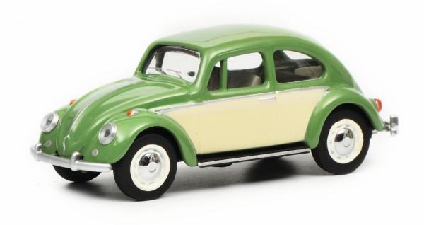 VW Käfer, resedagrün/beige