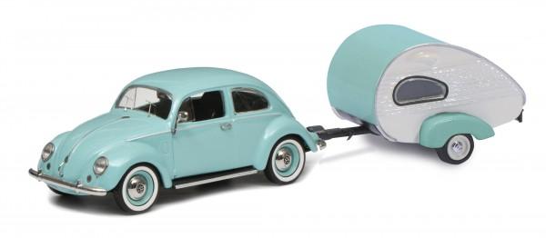 VW Käfer mit ES-Piccolo Wohnwagen