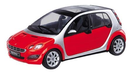 Smart Forfour, phat red-river silber