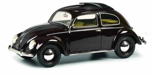 VW Brezel-Käfer mit Faltdach, dunkelrot