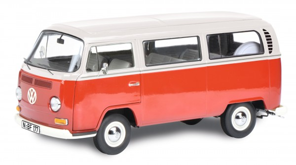 VW T2a Bus L, rot-weiß