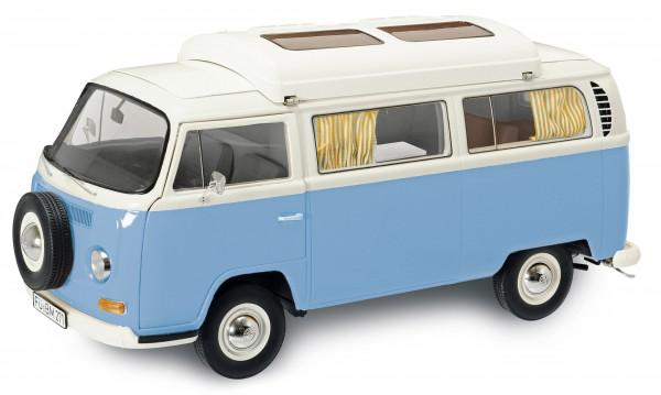 VW T2a Campingbus, neptunblau-weiß