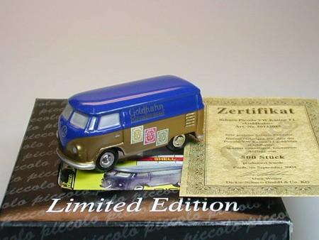 """VW T1 """"Goldhahn"""" gold/blau"""