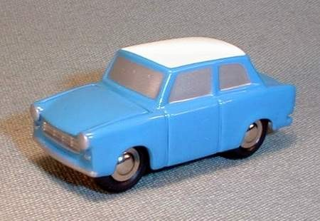 Trabant, blau/weiß